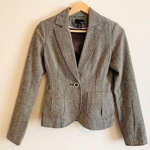 H&M Updated Brown Tweed Dressed-Up Blazer Like New